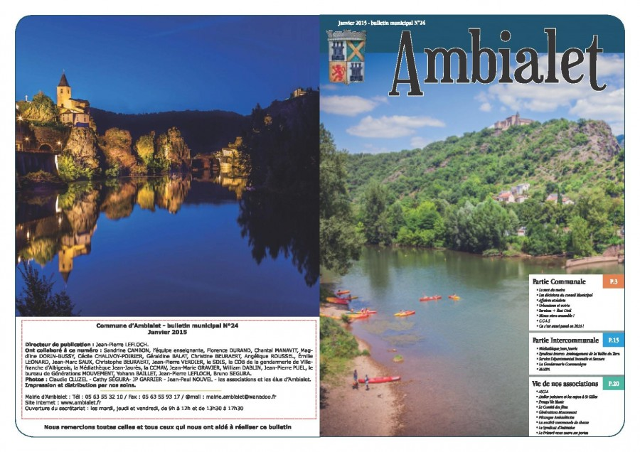 1ère page bulletin municipal 2015
