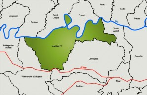 Carte de localisation d'Ambialet