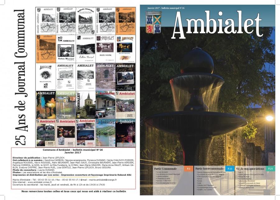 1ère page journal communal janvier 2017