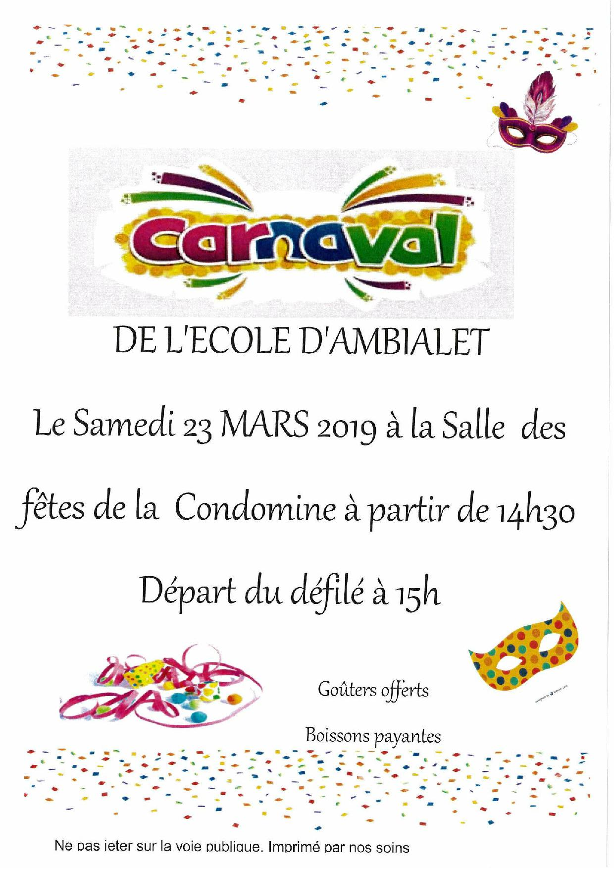 carnaval école