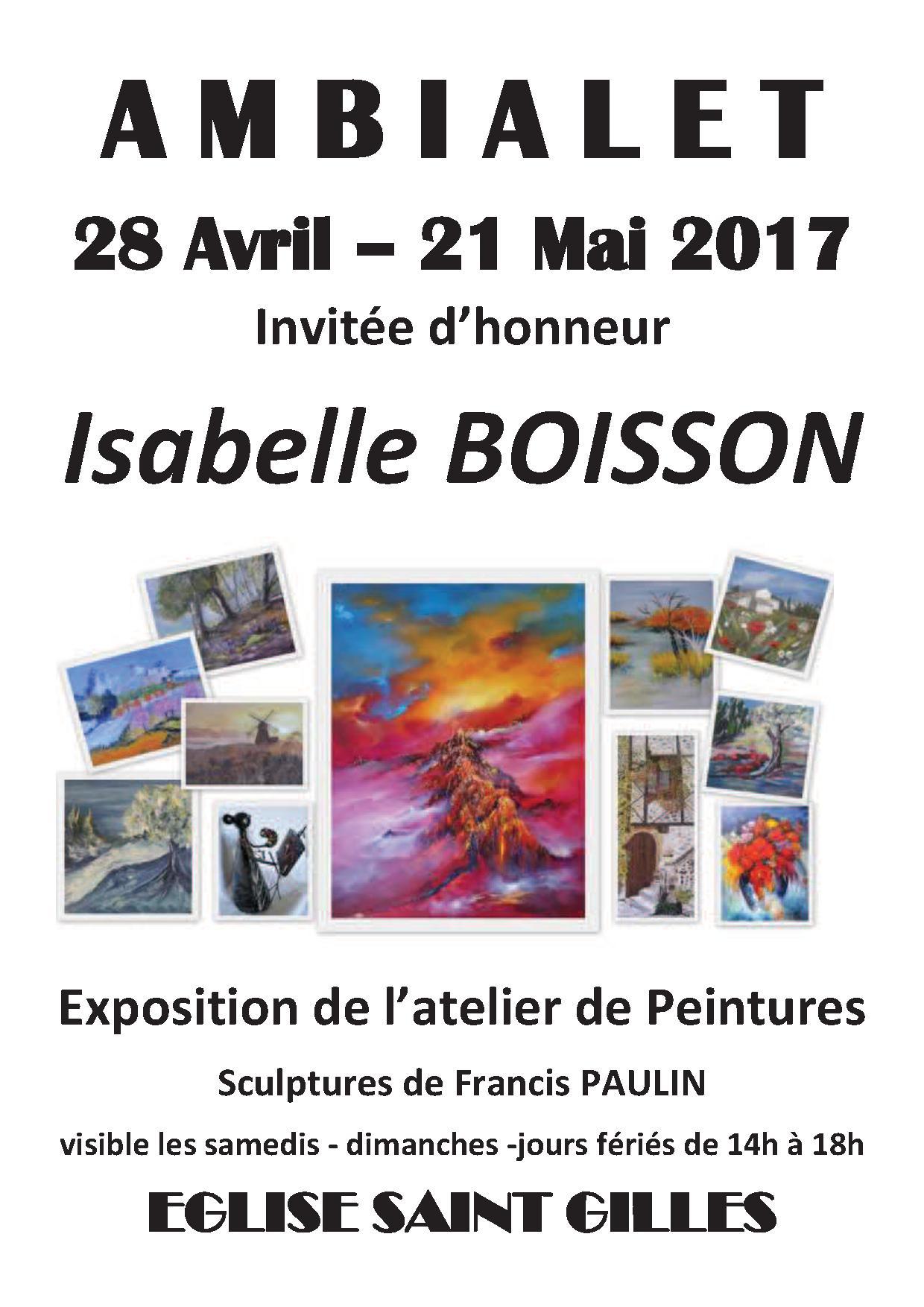 Exposition avril mai