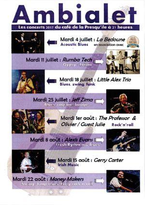 Les concerts 2017 du café de la Presqu'île