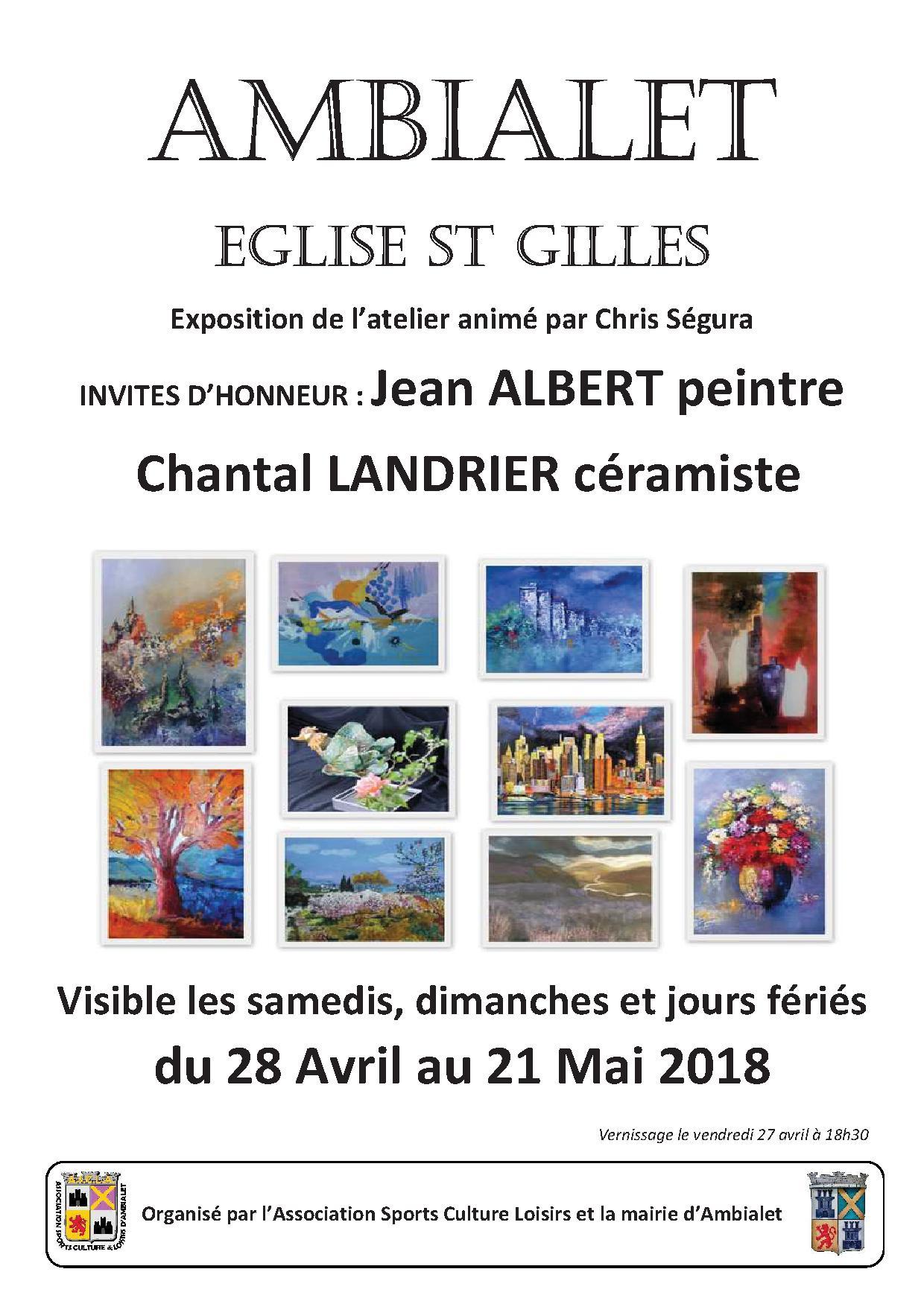 Exposition peinture mai 2018