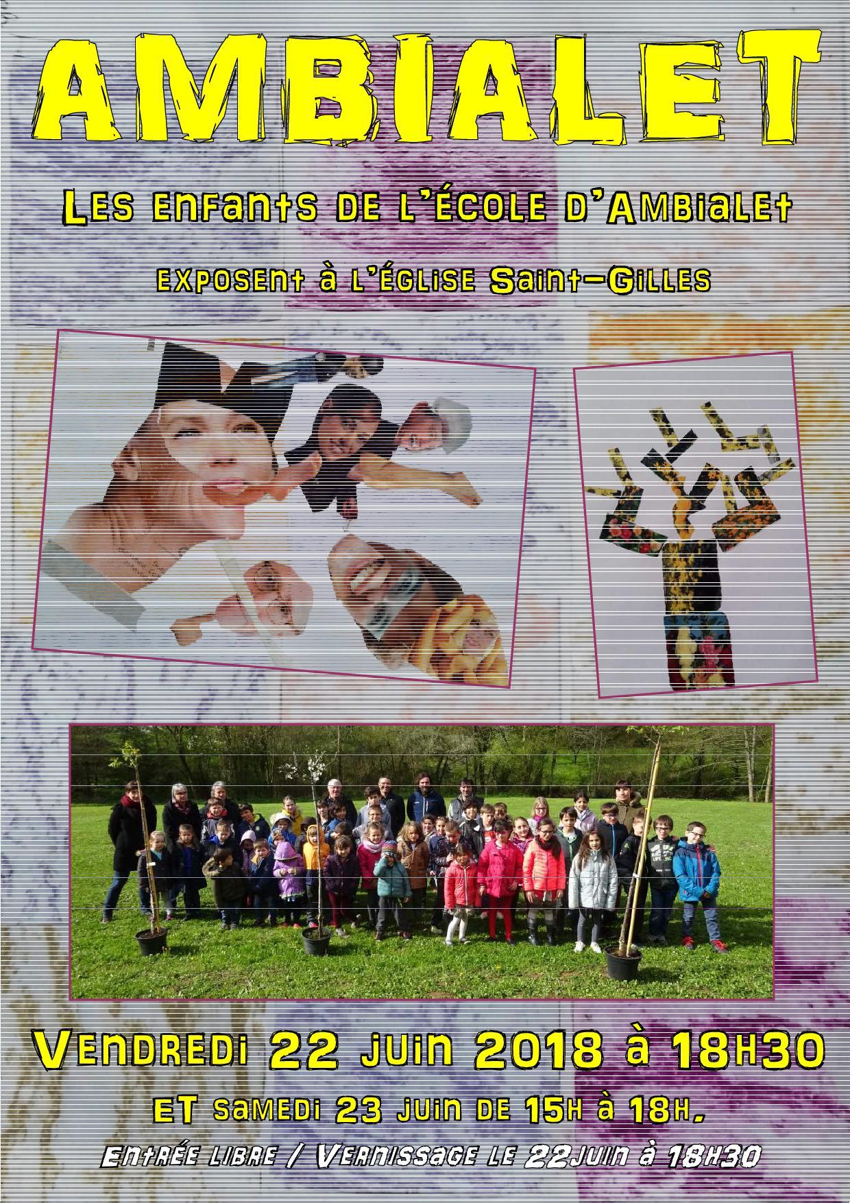 exposition des enfants de l'école d'Ambialet