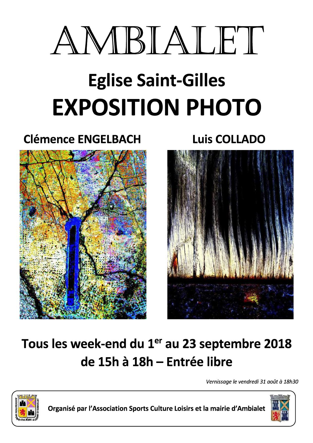 Exposition 1er au 23 septembre 2018