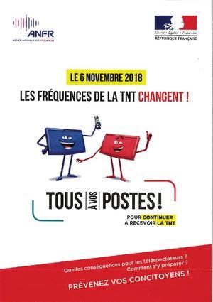 Le 6 novembre les fréquences de la TNT changent !