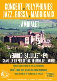 Concert de Polyphonies Jazz, Bossa et Madrigaux